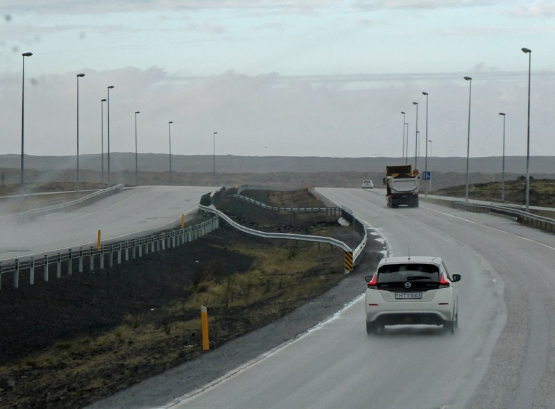 The road to the airport, Iceland
