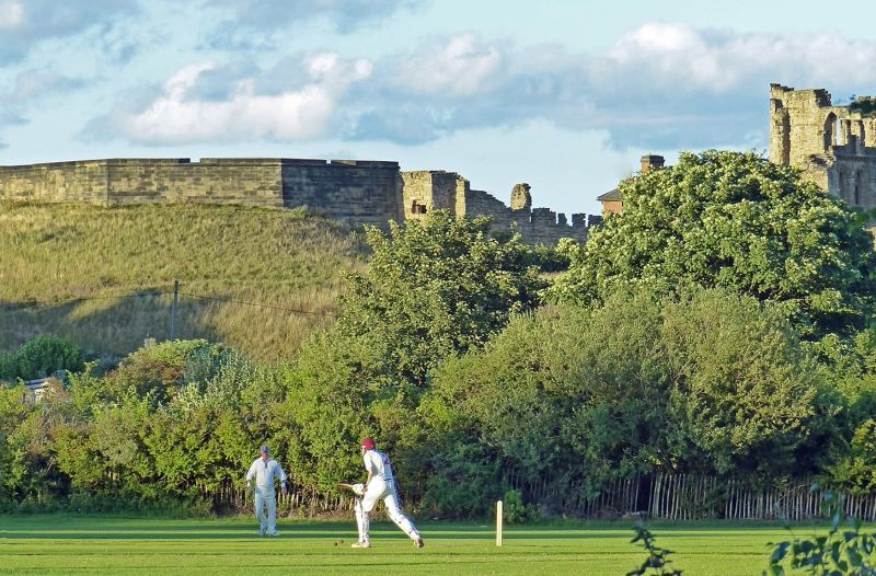 Cricket match in the shadows of the Priory - Tynemouth