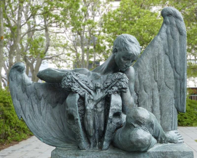 In the Einar Jónsson Sculpture Park - Spring