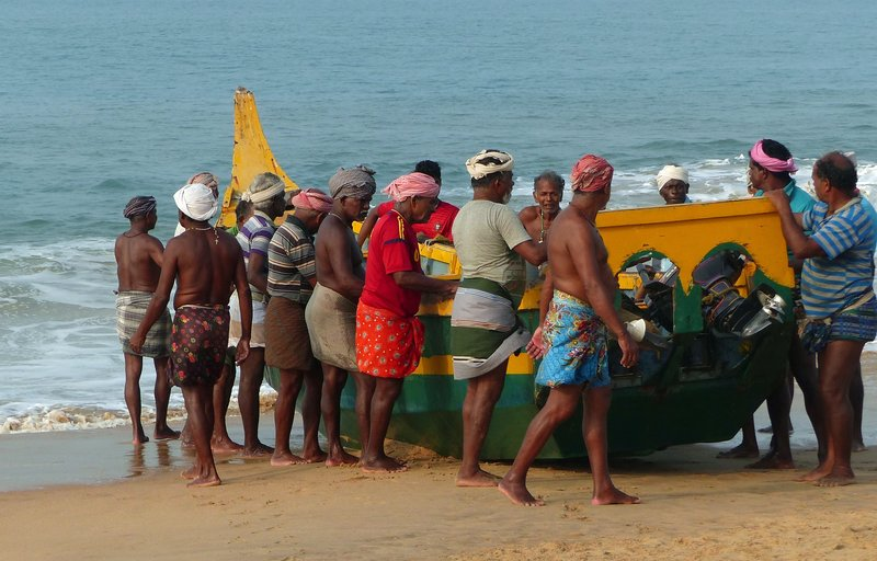 Fishermen, Chowara beach