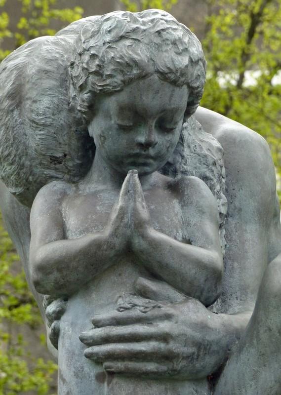 In the Einar Jónsson Sculpture Park - Prayer