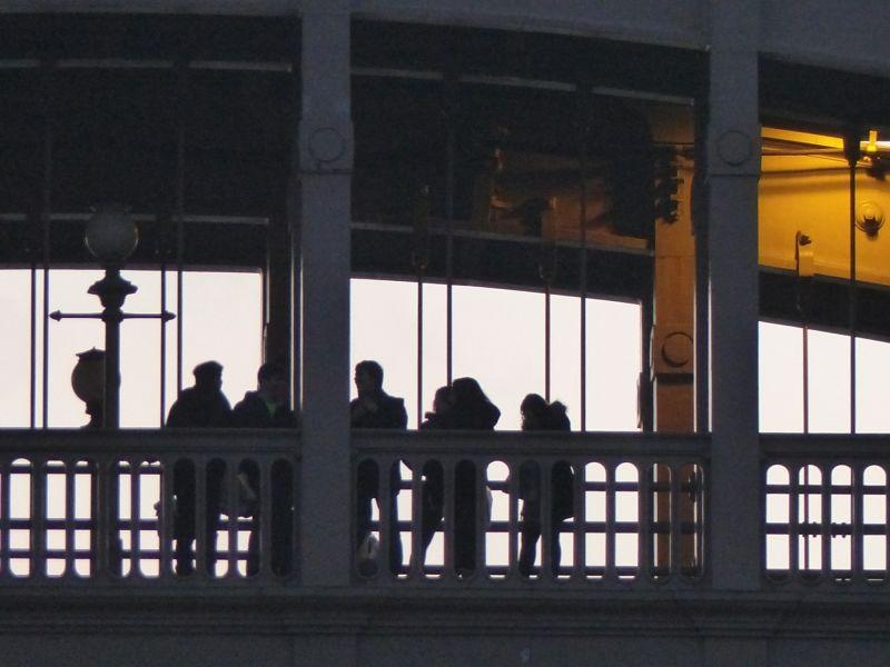 Pedestrians on the bridge - Newcastle upon Tyne