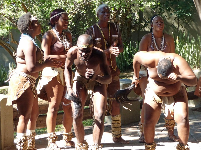 Traditional dancers, Chobe Game Lodge