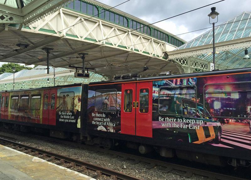 Train in Tynemouth Metro station - Tynemouth