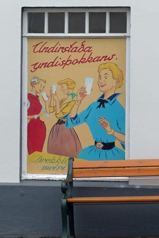 Old advertising poster, Reykjavik