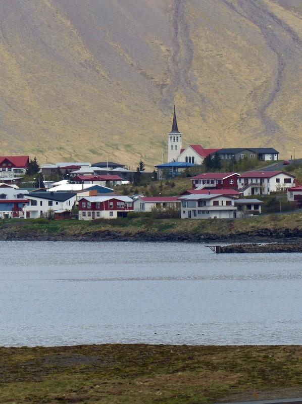 View from Kirkjufellsfoss - Grundarfjörður