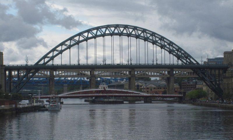 Swing Bridge tucked beneath the Tyne Bridge - Newcastle upon Tyne