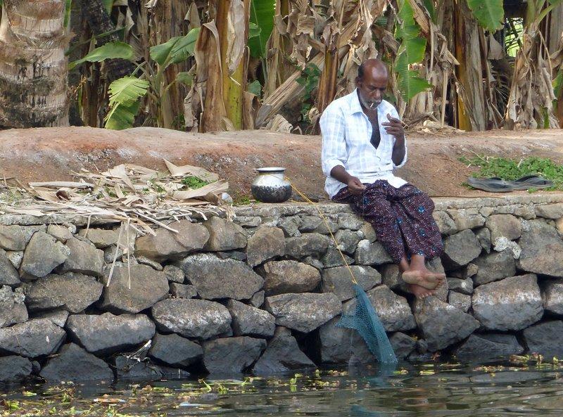 Fishing on the Kerala backwaters