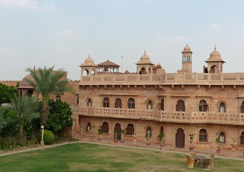 Our room was top left in this block - Khimsar Fort hotel
