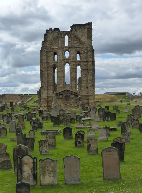 East side with cemetery and chapel - Tynemouth Priory