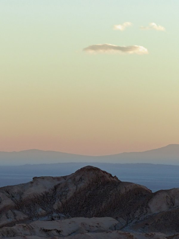 Desert sunset, Mirador de Kari, Atacama Desert