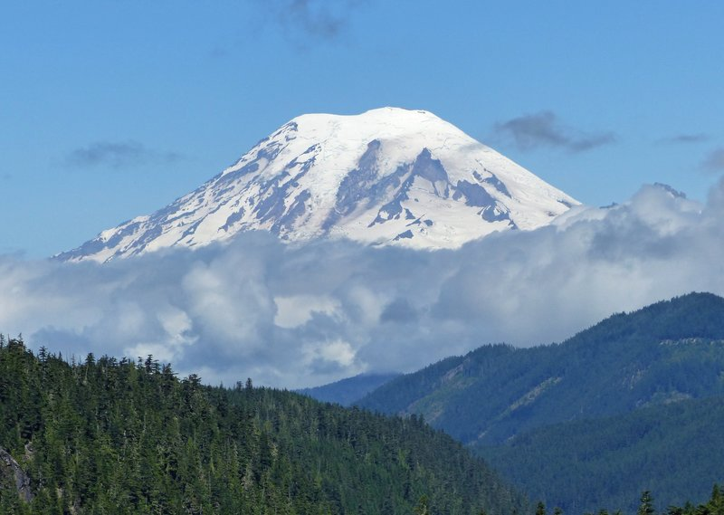 View of Mount Rainier from Hwy 12
