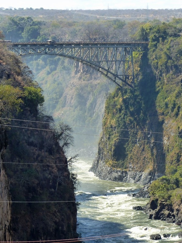 View of the bridge from Lookout Cafe, Victoria Falls