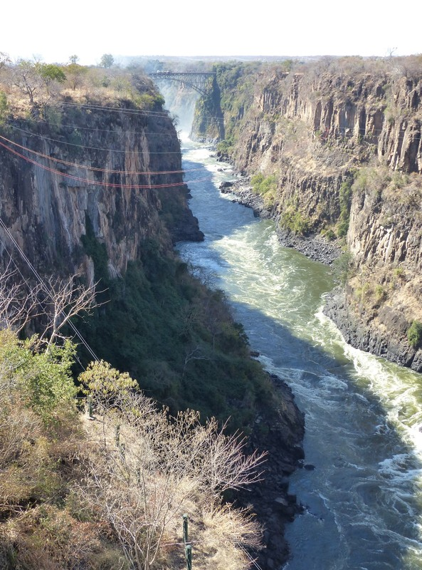 View from Lookout Cafe, Victoria Falls