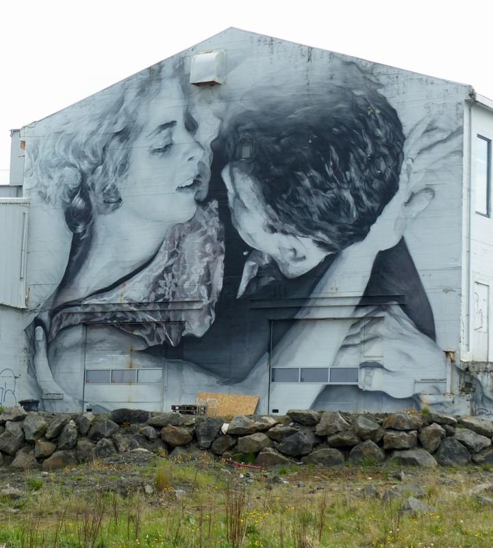Reykjavik street art by Guido van Helten