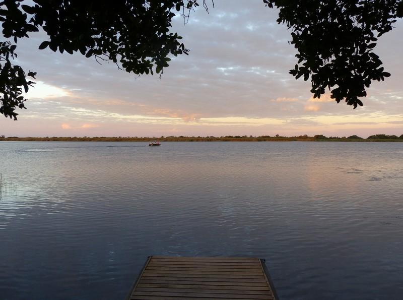Early morning at the jetty, Xugana Island Lodge