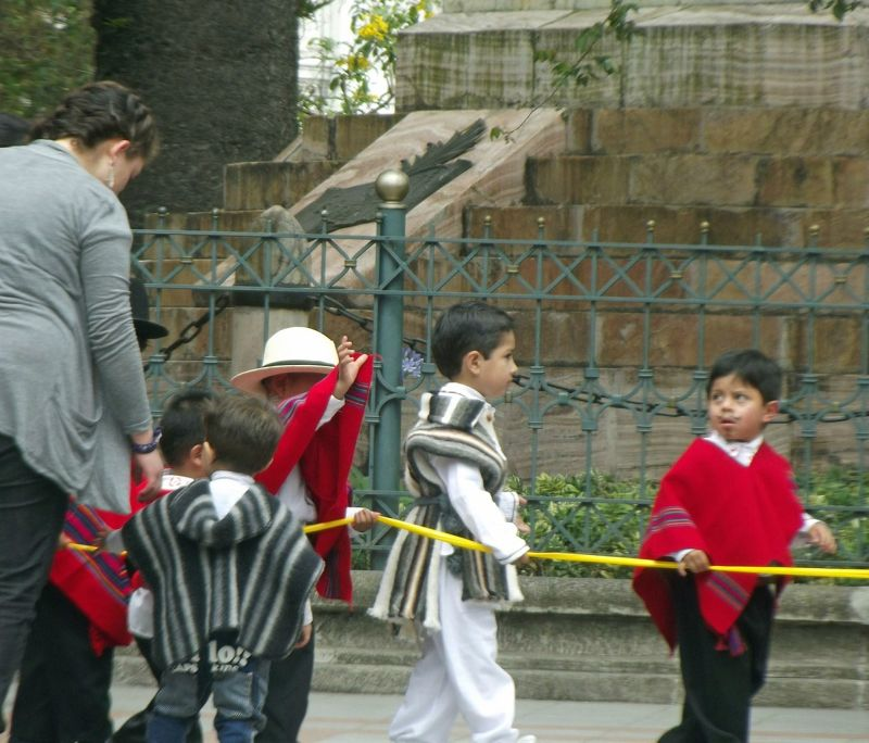On their way to the parade - Cuenca