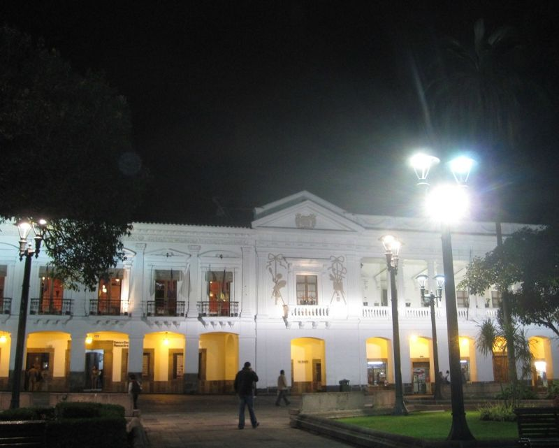 Archbishop's Palace at night - Quito