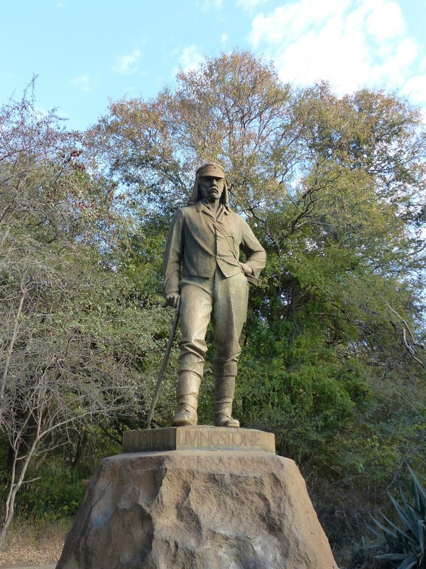Statue of David Livingstone at Victoria Falls