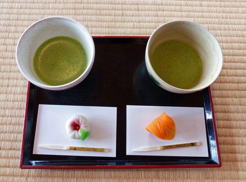 Matcha in the tea house at Hamarikyu, Tokyo