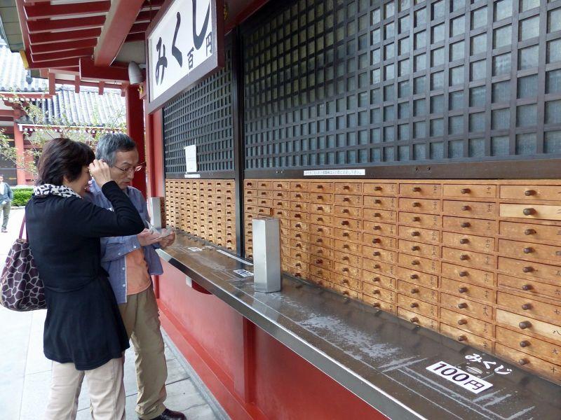Fortune telling at Senso-Ji, Asakusa, Tokyo