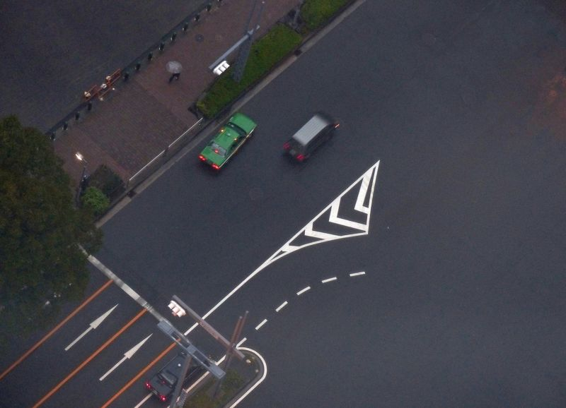 Looking straight down from the Government Metropolitan Building - Shinjuku, Tokyo