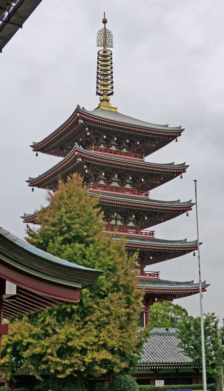 Five storey pagoda, Senso-ji, Asakusa - Tokyo