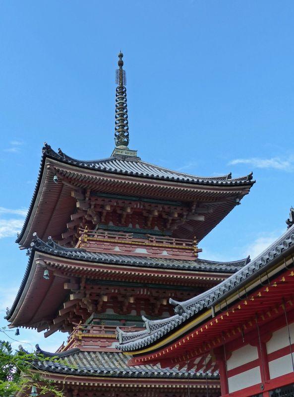 Pagoda and Kaizan-do Hall, Kiyomizu-dera - Kyoto