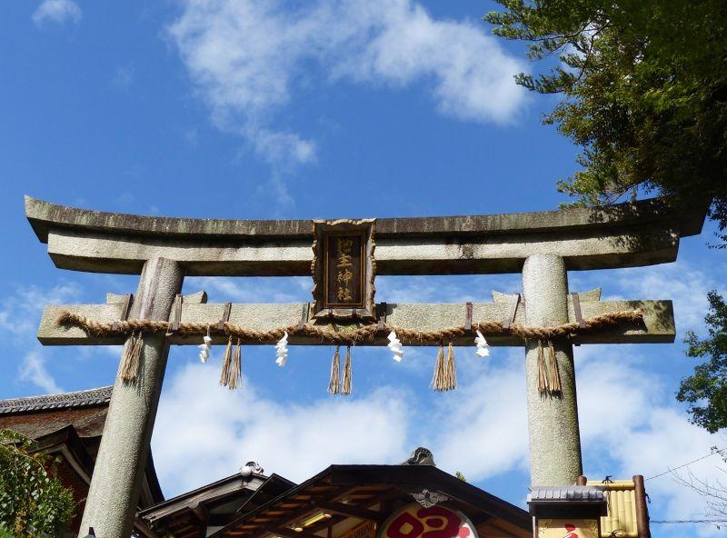 The torii gate, Kiyomizu-dera - Kyoto
