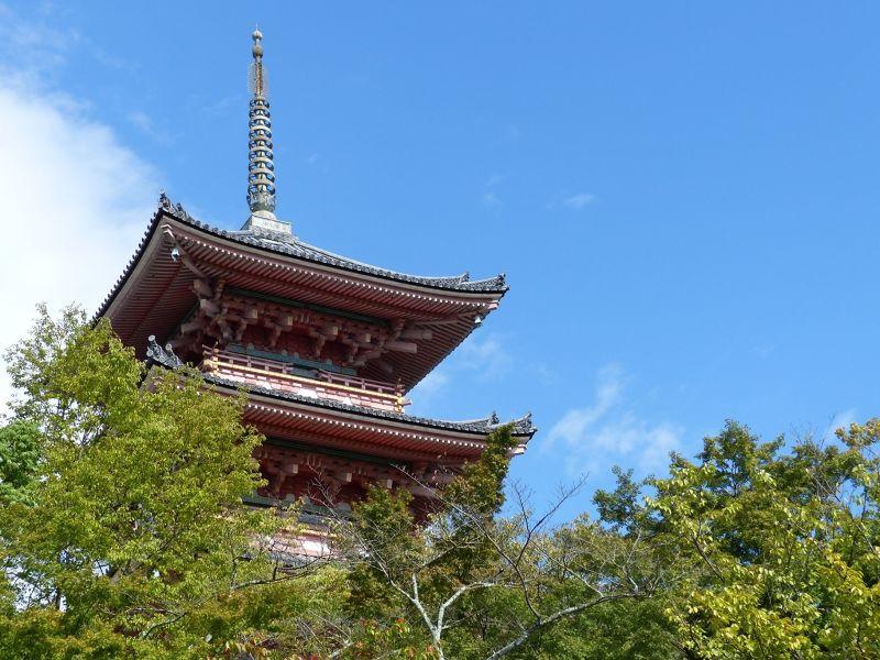 The pagoda, Kiyomizu-dera - Kyoto