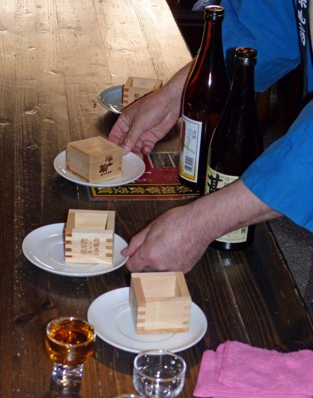 Traditionally served sake - Takayama