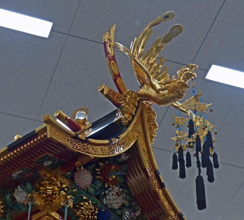 Float detail, phoenix, at the Yatai Kaikan - Takayama