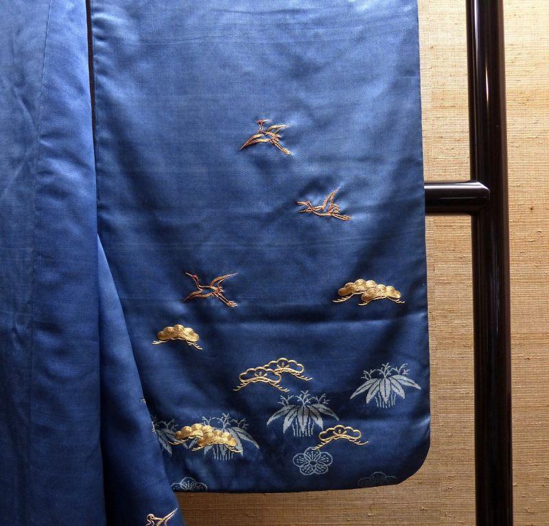 Silk kimono on display in Kusakabe mingei-kan - Takayama