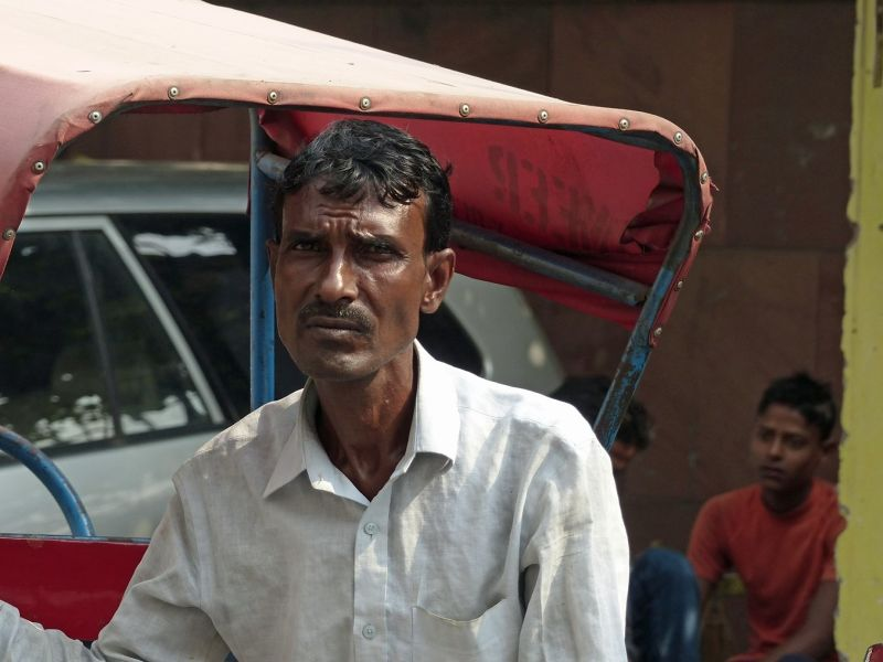 Rickshaw driver, Chandni Chowk - Delhi