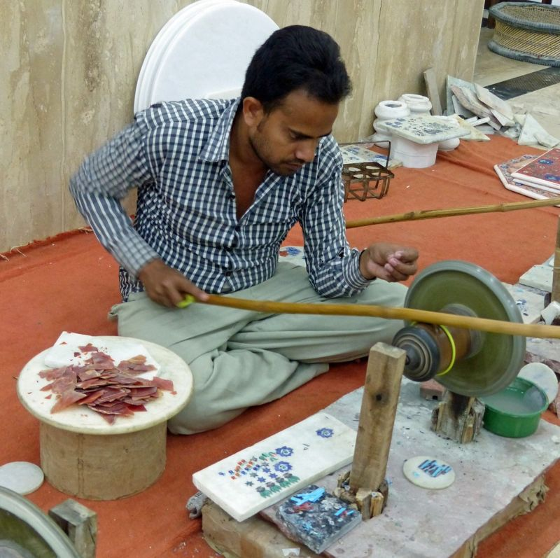 Shaping the stones - Agra