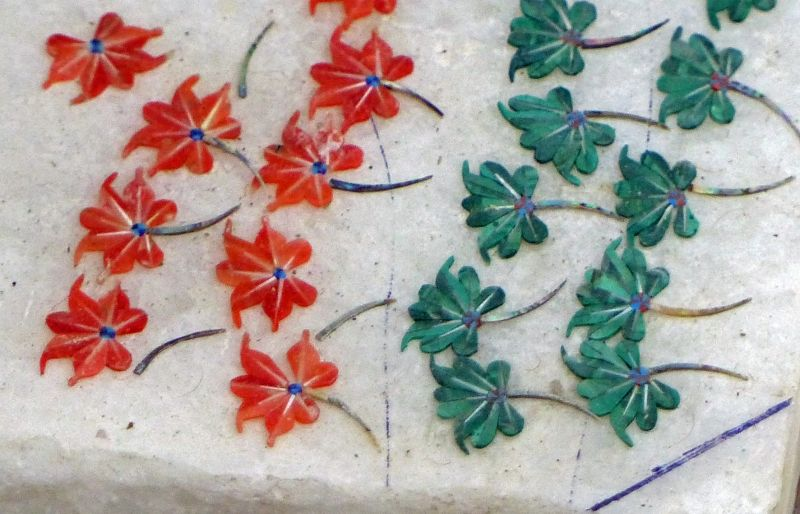 Piecing together the flowers - Agra