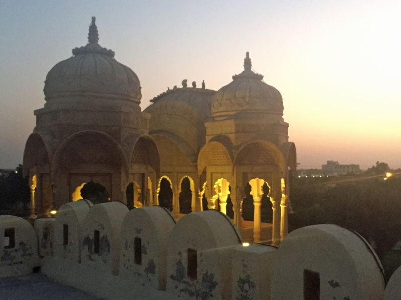 Rooftop bar at sunset, Fort Rajwada - Jaisalmer