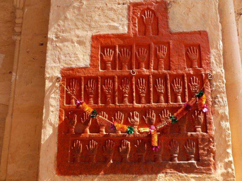 Sati handprints, Mehrangarh Fort - Jodhpur