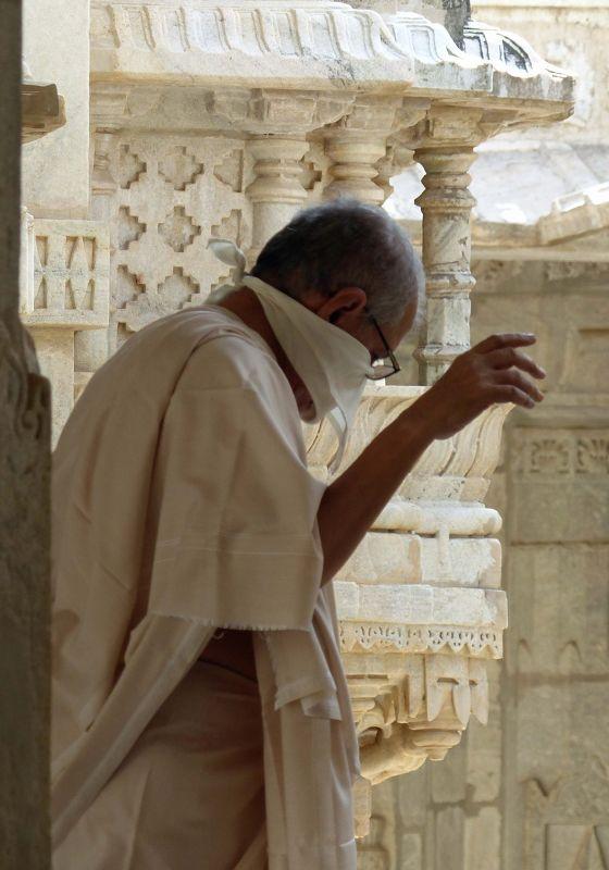 Jain priest in the temple - Ranakpur