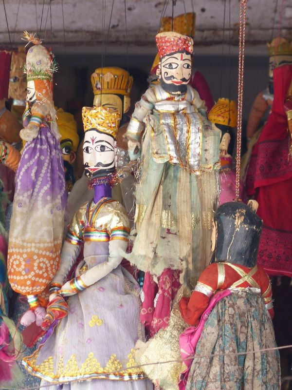 Puppets for sale, City Palace Road - Udaipur