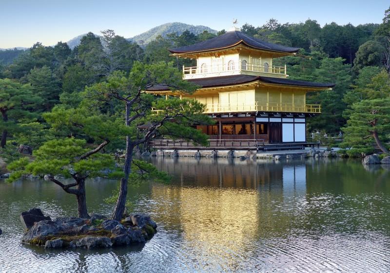First view of Kinkaku-ji