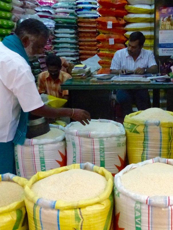 Rice shop, Munnar