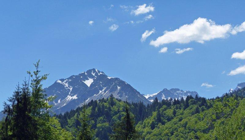 Mountain views near the ski flying arena, Oberstdorf