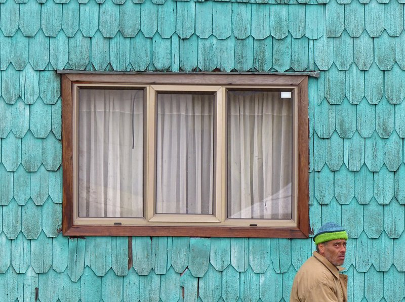 Building detail, Chacao, Chiloe