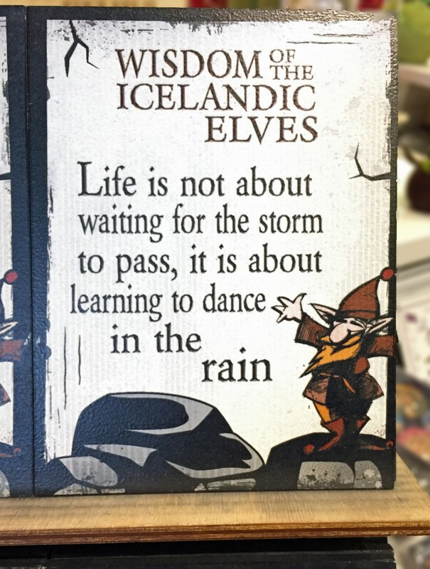 Sign in the gift shop at Gullfoss