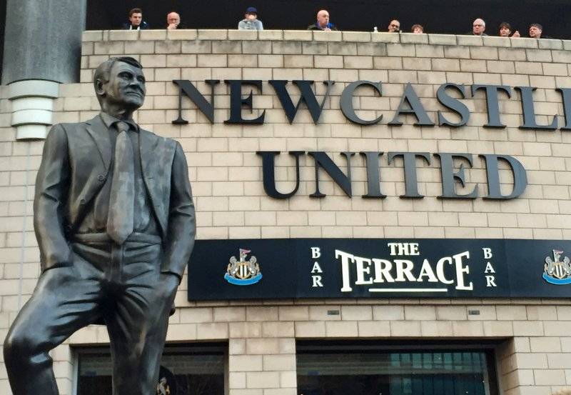 Statue of Sir Bobby Robson, St James' Park, Newcastle