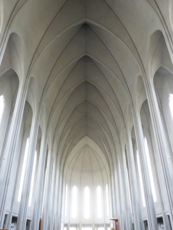 Inside Hallgrimskirkja, Reykjavik