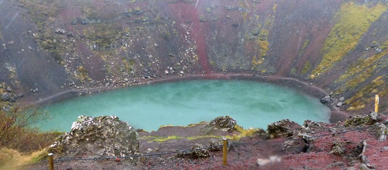Crater lake at Kerid