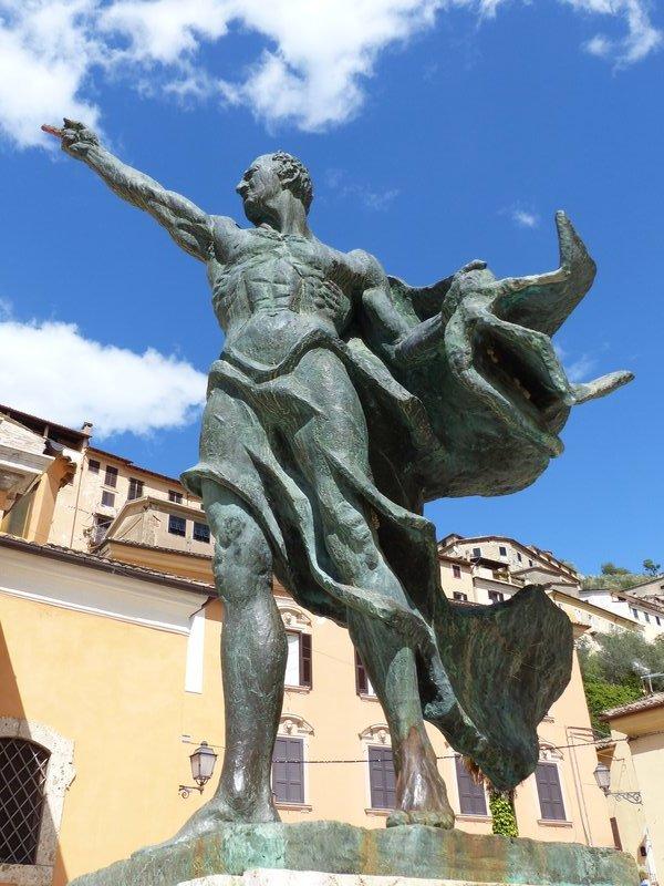 Statue of Cicero, Piazza Municipio, Arpino