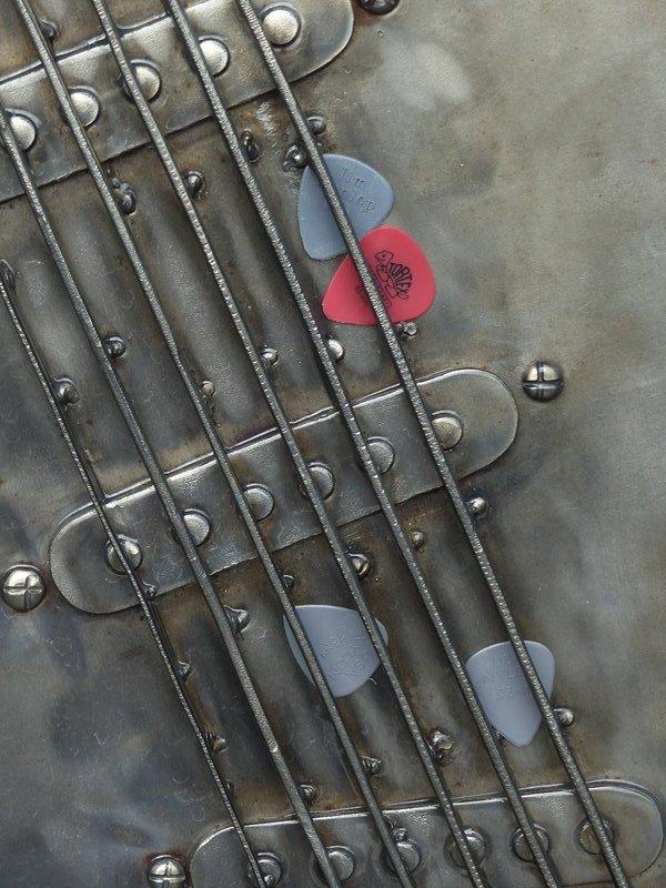 Plectrums left at the Jimi Hendrix memorial, Renton